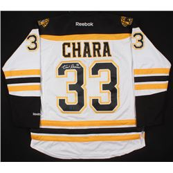 Zdeno Chara Signed Boston Bruins Captain's Jersey (Chara COA)