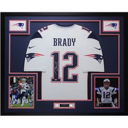 Tom Brady Signed 35x43 Custom Framed Jersey (TriStar Hologram)