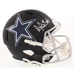 Dak Prescott Signed Dallas Cowboys Full-Size Matte Black Speed Helmet (Beckett COA  Prescott Hologra