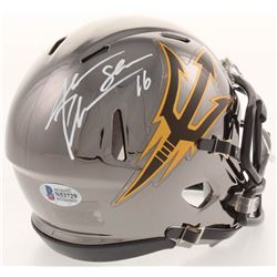 Jake Plummer Signed Arizona State Sun Devils Chrome Speed Mini Helmet (Beckett COA)