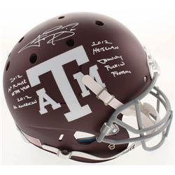 Johnny Manziel Signed Texas AM Aggies Full-Size Helmet With Multiple Inscriptions (Beckett COA)