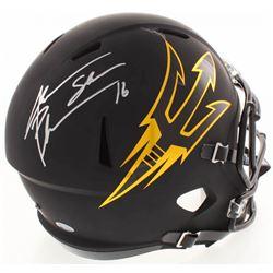 Jake Plummer Signed ASU Sun Devils Full-Size Matte Black Speed Helmet (Beckett COA)