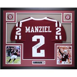 "Johnny Manziel Signed 35"" x 43"" Custom Framed Jersey (PSA COA)"