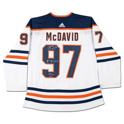 "Connor McDavid Signed Limited Edition Edmonton Oilers Jersey Inscribed ""#1 Pick 2015"" (UDA COA)"