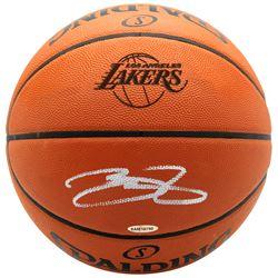 LeBron James Signed Los Angeles Lakers Logo Basketball (UDA COA)