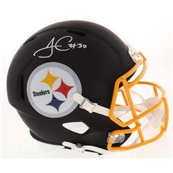 James Conner Signed Pittsburgh Steelers Full-Size Matte Black Speed Helmet (Beckett COA)