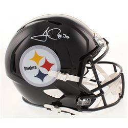 James Conner Signed Pittsburgh Steelers Full-Size Speed Helmet (Beckett COA)