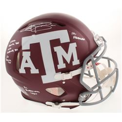Johnny Manziel Signed Texas AM Aggies Full-Size Authentic On-Field Speed Helmet with (5) Career High