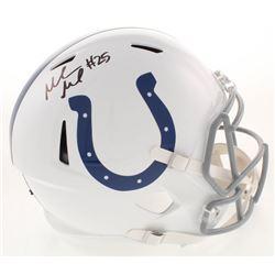 Marlon Mack Signed Indianapolis Colts Full-Size Speed Helmet (Beckett COA)