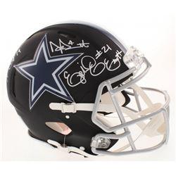 Dak Prescott, Ezekiel Elliott  Amari Cooper Signed Dallas Cowboys Full-Size Authentic On-Field Matte