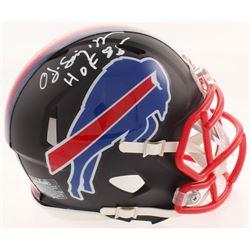 "O. J. Simpson Signed Buffalo Bills Matte Black Mini Speed Helmet Inscribed ""HOF 85"" (JSA COA)"
