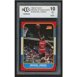 1996-97 Fleer Decade of Excellence #4 Michael Jordan (BCCG 10)