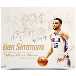 "Ben Simmons Signed Philadelphia 76ers ""NBA Royalty"" 20x24 Photo Inscribed ""ROY 18"" (UDA COA)"