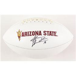Jake Plummer Signed Arizona State Sun Devils Logo Football (Beckett COA)
