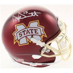Dak Prescott Signed Mississippi State Bulldogs Chrome Mini Helmet (Beckett COA  Prescott Hologram)