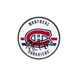 Patrick Roy Signed Montreal Canadiens Logo Hockey Puck (UDA COA)