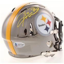 Hines Ward Signed Pittsburgh Steelers Chrome Mini Speed Helmet (Beckett COA)