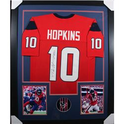 DeAndre Hopkins Signed 35x43 Custom Framed Jersey (JSA COA)