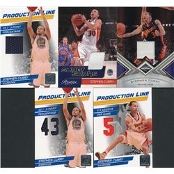 Lot of (5) Serially Numbered Stephen Curry Basketball Cards with (3) 2010-11 Donruss Production Line