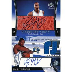 Lot of (2) 2004-05 SPx #147 Dwight Howard JSY AU RC  2008-09 Upper Deck Radiance Sweet Shot Autograp