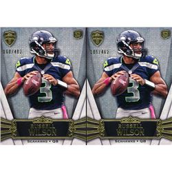 Lot of (2) 2012 Topps Supreme #23 Russell Wilson RC