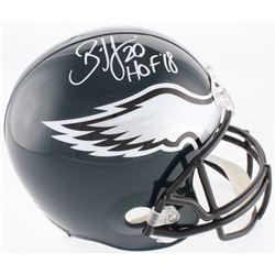 """Brian Dawkins Signed Philadelphia Eagles Full-Size Helmet Inscribed """"HOF '18"""" (JSA COA)"""