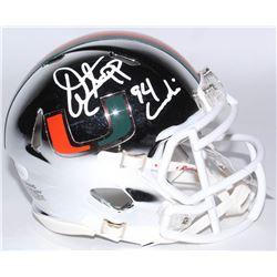 "Warren Sapp Signed Miami Hurricanes Chrome Speed Mini Helmet Inscribed ""94 Lombardi"" (JSA COA)"