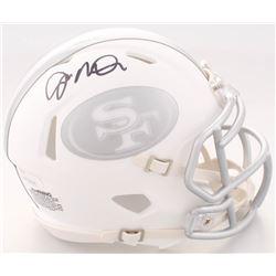 Joe Montana Signed San Francisco 49ers White ICE Speed Mini Helmet (JSA COA)
