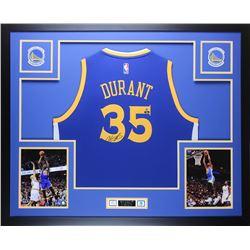 Kevin Durant Signed 35x43 Custom Framed Jersey (Steiner COA  Panini Hologram)