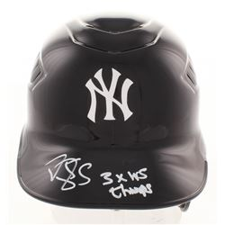 "Darryl Strawberry Signed New York Yankees Full-Size Batting Helmet Inscribed ""3x WS Champs"" (JSA COA"