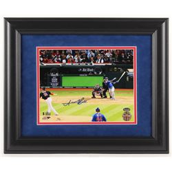 Addison Russell Signed Chicago Cubs 2016 World Series 14x17 Custom Framed Photo Display (Schwartz Sp