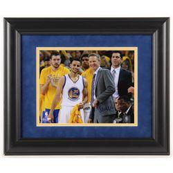 Steve Kerr Signed Golden State Warriors 14x17 Custom Framed Photo Display (Schwartz Sports COA)