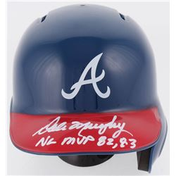 """Dale Murphy Signed Atlanta Braves Mini Helmet Inscribed """"NL MVP 82, 83"""" (Radtke COA)"""