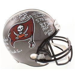 Warren Sapp Signed Tampa Bay Buccaneers Full-Size Helmet with (11) Inscriptions (Beckett COA)