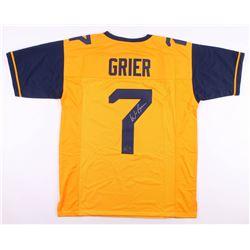 Will Grier Signed Jersey (Radtke COA)