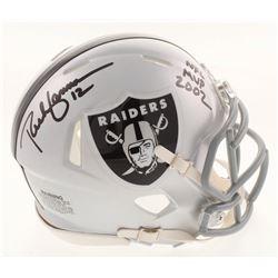 "Rich Gannon Signed Oakland Raiders Speed Mini Helmet Inscribed ""NFL MVP 2002"" (Radtke COA)"