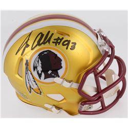 Jonathan Allen Signed Washington Redskins Blaze Speed Mini Helmet (Radtke COA)