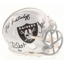 Marcus Allen, Fred Biletnikoff  Jim Plunkett Signed Oakland Raiders Speed Mini Helmet (Radtke COA)