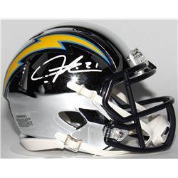 LaDainian Tomlinson Signed San Diego Chargers Chrome Speed Mini Helmet (Radtke COA)