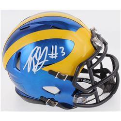 Rashan Gary Signed Michigan Wolverines Chrome Speed Mini Helmet (Radtke COA)