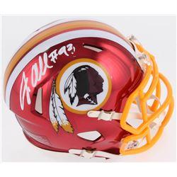 Jonathan Allen Signed Washington Redskins Chrome Speed Mini Helmet (Radtke COA)