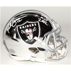 """Rich Gannon Signed Oakland Raiders Chrome Speed Mini Helmet Inscribed """"NFL MVP 2002"""" (Radtke COA)"""