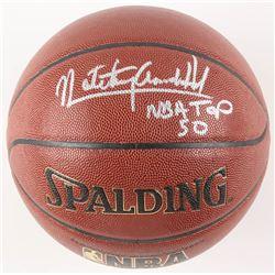 """Nate """"Tiny"""" Archibald Signed NBA Basketball Inscribed """"NBA Top 50"""" (Schwartz COA)"""