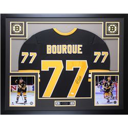 Ray Bourque Signed 35x43 Custom Framed Jersey (JSA COA)