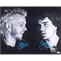 "Kiefer Sutherland  Jason Patric Signed ""The Lost Boys"" 16x20 Photo (JSA COA)"