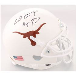 "Earl Campbell Signed Texas Longhorns Mini Helmet Inscribed ""HT 77"" (JSA COA)"