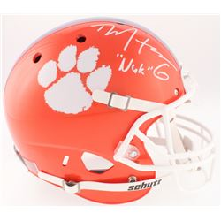 "DeAndre Hopkins Signed Clemson Tigers Full-Size Helmet Inscribed ""Nuk"" (JSA COA)"