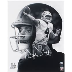 Dak Prescott Signed Dallas Cowboys 16x20 Photo (Beckett COA  Prescott Hologram)