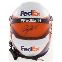 Denny Hamlin Signed 2019 NASCAR FedEx Full-Size Helmet (PA COA)
