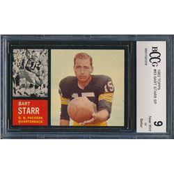 1962 Topps #63 Bart Starr SP (BCCG 9)
